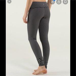 Lululemon striped wunder under pant
